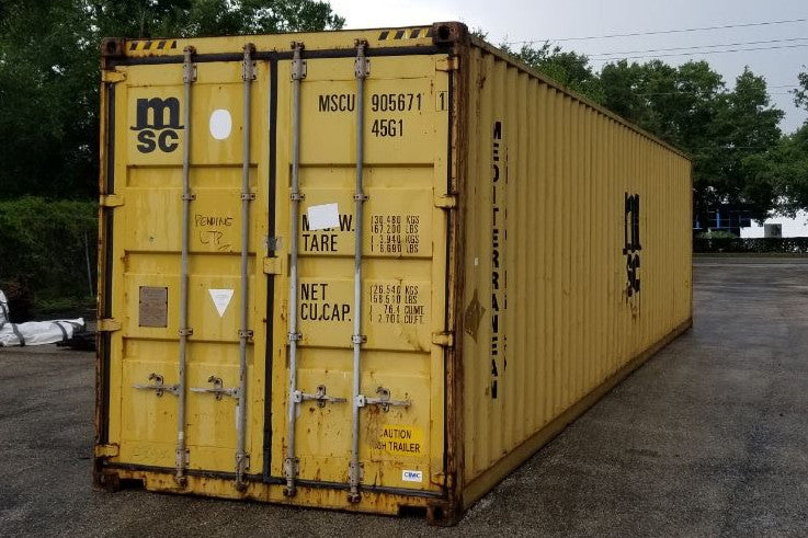 40 ft High Cube Wind and Water Tight (40HCWWT) Shipping Container Angle View