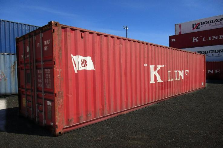 40 ft Standard Wind and Water Tight (40STWWT) Shipping Container Angle View