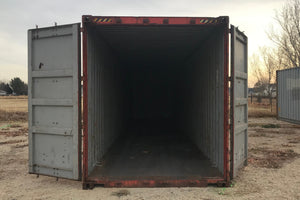 40 ft Standard As Is (40STASIS) Shipping Container Opening