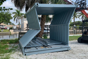 10 ft Collapsable New Shipping Container (10CLNEW) Collapsing Front View