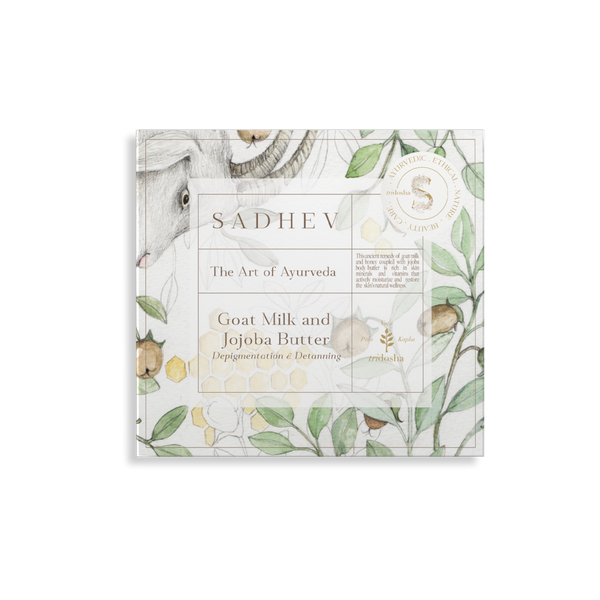 Sadhev - The Art Of Ayurveda Bathing Bar Depigmentation Bathing Bar | Goat Milk & Jojoba Butter | 125G | Sadhev
