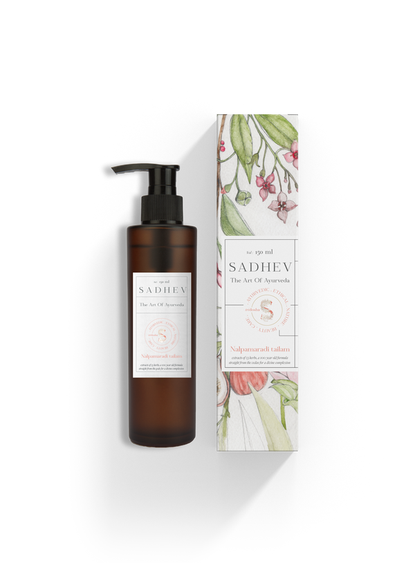 Sadhev - The Art Of Ayurveda Oil Brightening Nalpamaradi Tailam |150Ml |Sadhev