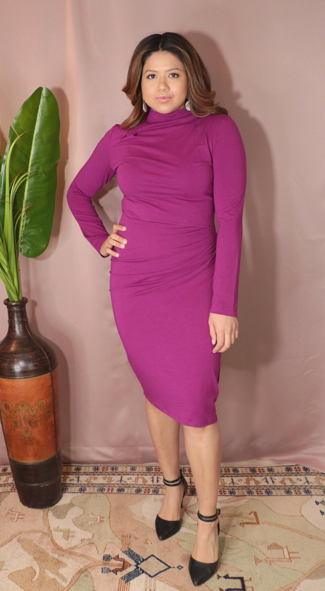 Lena dress- Fuchsia