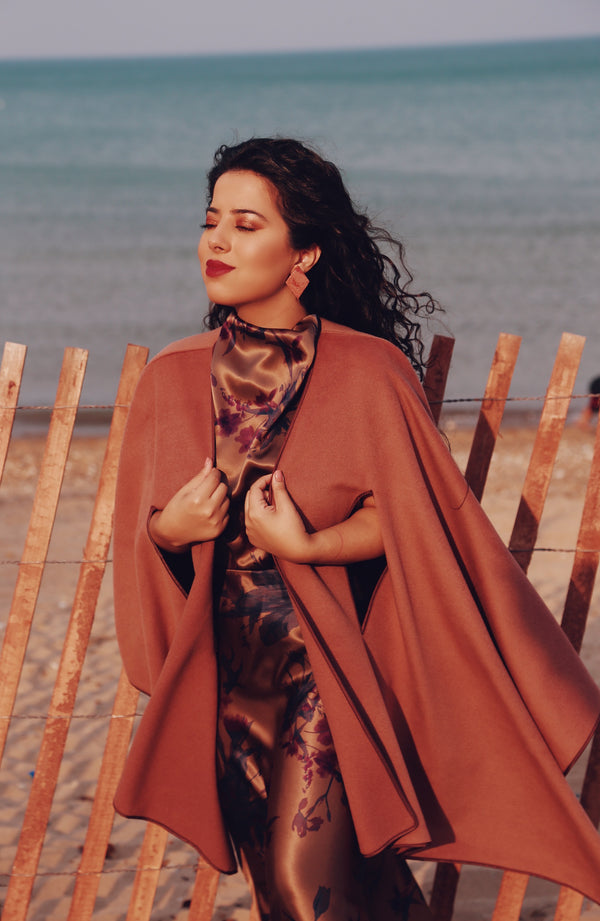 Tan cape/shawl