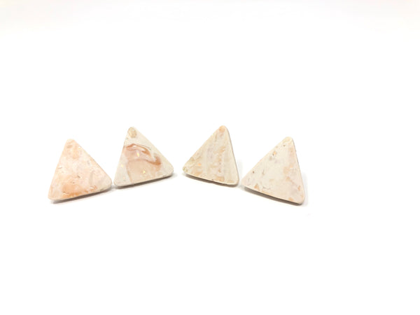 Abstract opal triangle earrings