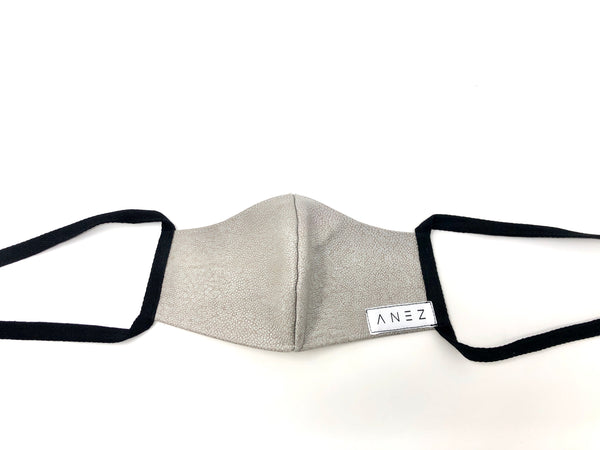 Grey fitted Leather face mask