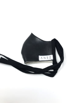 Fitted faux Leather face mask