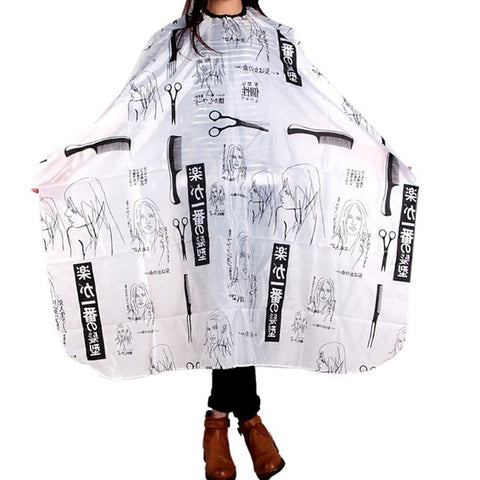 Hair Salon Cape Haircut Barber Gown Hairdressing Apron Hairdressing Supplies Black+White