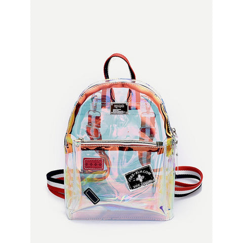 Striped Strap Iridescence Backpack