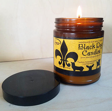 9 oz Amber Glass Jar Soy Wax Candle