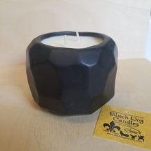 Load image into Gallery viewer, 14 oz Black Geo Ceramic 2 Wick Candle