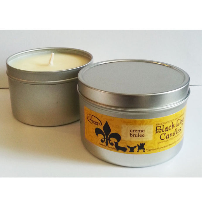 8 oz Aluminum Tin Soy Wax Candle