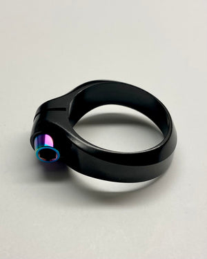 Titanium Bolt Ibis Seat Collar - Rainbow Oil Slick