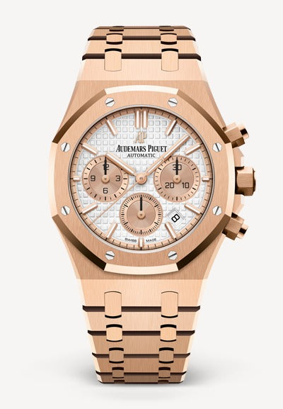 Audemars Piguet Royal Oak 38mm Rose Gold Chronograph White Dial