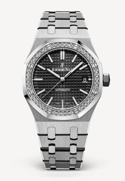 Audemars Piguet Royal Oak 37mm Steel Black Dial Diamonds