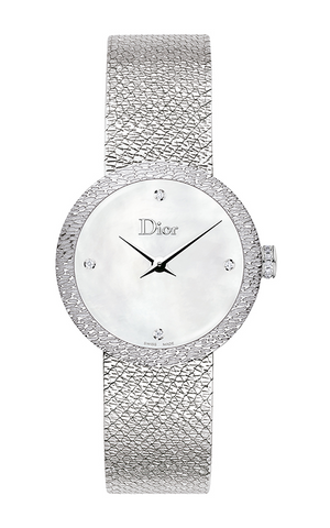 La d De DIOR 25mm Steel, White Dial 4 Diam