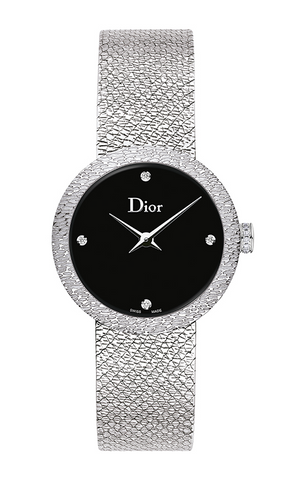 La d De DIOR 25mm Steel, Black Dial 4 Diam