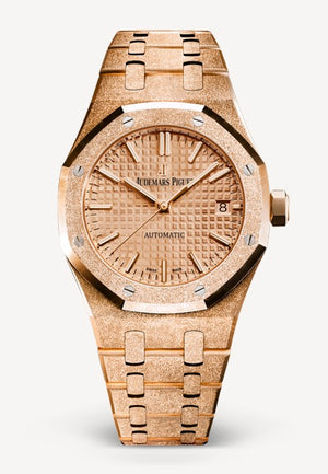 Audemars Piguet Royal Oak 37mm Frosted Rose Gold Gold Dial