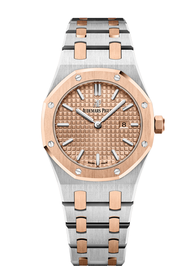 Audemars Piguet Royal Oak 33mm Steel Rose Gold Salmon Dial