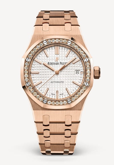 Audemars Piguet Royal Oak 37mm Rose Gold Diamonds