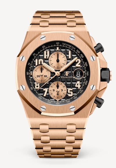 Audemars Piguet Royal Oak 42mm Offshore Rose Gold Black Dial Bracelet