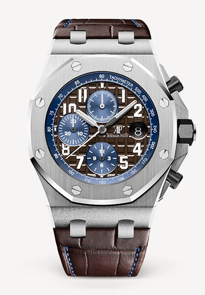 Audemars Piguet Royal Oak 42mm Offshore Chronograph Steel Brown Blue