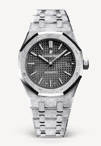 Audemars Piguet Royal Oak 37mm Frosted White Gold Black Dial