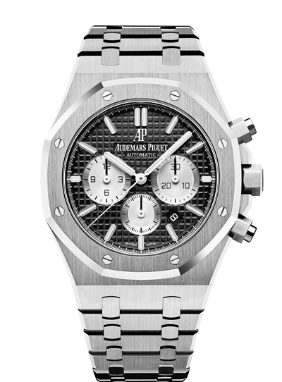 Audemars Piguet Royal Oak 41mm Chronograph Black Dial Silver Counters