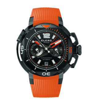 Pre Owned Clerc Hydroscaph Chronograph Orange