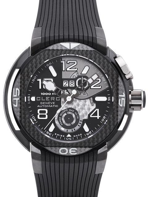 Pre Owned Clerc Hydroscaph Carbon Large Date
