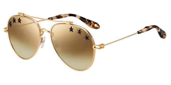 Givenchy 7057 Gold Copper w Black Stars