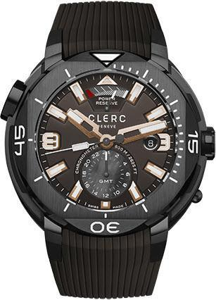Pre Owned Clerc Hydroscaph GMT Power Reserve Brown