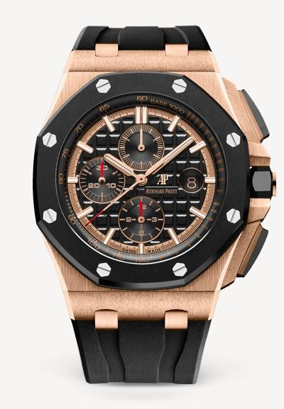 Audemars Piguet Royal Oak 44mm Offshore Chronograph Rose Gold Black