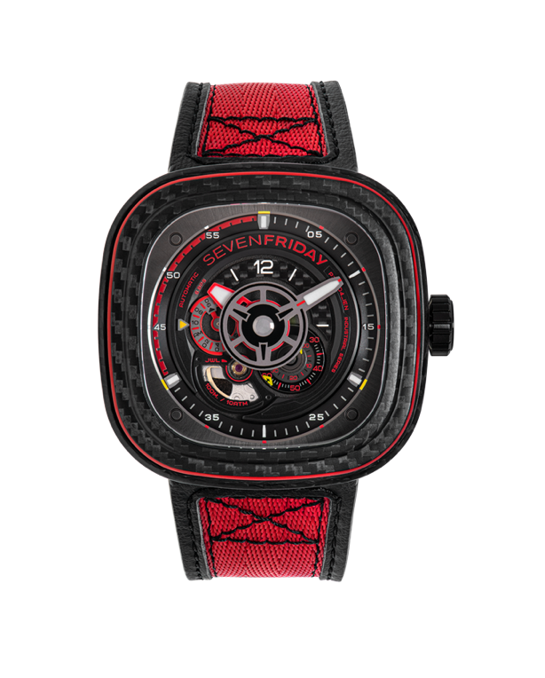 SevenFriday P3C/04 - RED CARBON