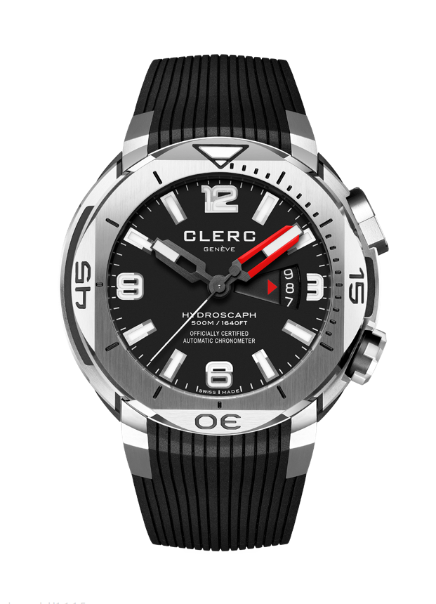Pre Owned Clerc Hydroscaph H1 Black Date Rubber (RED)
