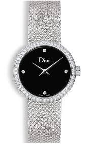 La d De DIOR 25mm Steel, Black Dial Diamonds