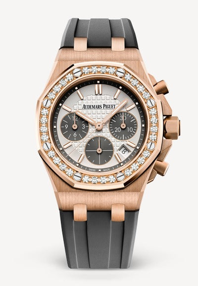 Audemars Piguet Royal Oak Offshore 37mm Rose Gold White Dial Diamonds