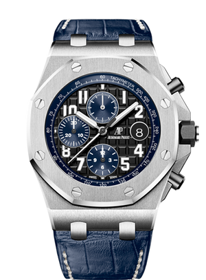 Audemars Piguet Royal Oak 42mm Offshore Chronograph Steel Black Blue