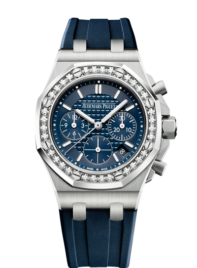 Audemars Piguet Royal Oak 37mm Off Shore Chrono Steel Blue Diamonds