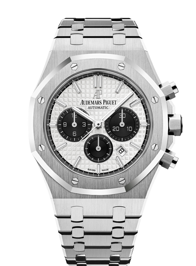 Audemars Piguet Royal Oak 41mm Chronograph Steel White Black Counters
