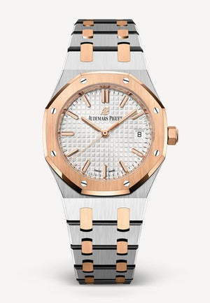 Audemars Piguet Royal Oak 34mm Two Tone White Dial