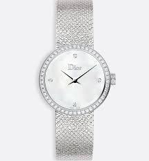 La d De DIOR 25mm Steel, White Diamonds