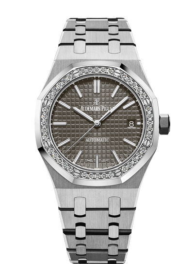 Audemars Piguet Royal Oak 37mm Steel Ruthenium Dial Diamonds