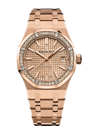 Audemars Piguet Royal Oak 37mm Rose Gold Dial Diamonds