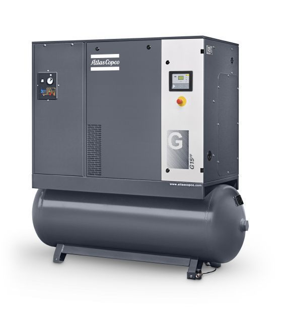 G7-125 FF, Atlas Copco 10 HP Rotary Screw Air Compressor 120 Gallon Tank & Air Dryer 3-Phase | 8153290831