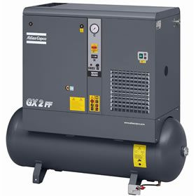 GX2-150T AFF, Atlas Copco 3 HP Rotary Screw Air Compressor with Air Dryer 53 Gallon Air Tank 230 Volt, 1-Phase | 8152101302