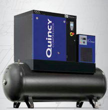 Load image into Gallery viewer, Quincy QGS-15 17 TMD, 15 HP Rotary Screw Air Compressor 56 CFM 120 Gallon Air Tank & Air Dryer 208-230/460 Volt, 3-Phase