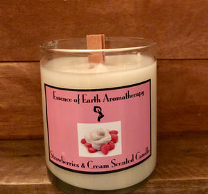 Strawberries & Cream Soy Wax Scented Candle