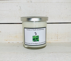 Peppermint & Eucalyptus Soy Wax Scented Candle