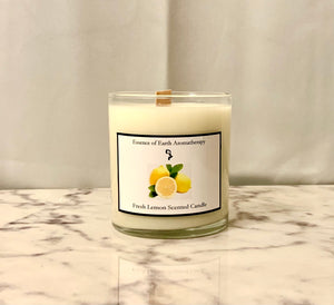 Fresh Lemon Soy Wax Scented Candle